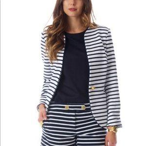 Elizabeth McKay navy stripe Betty blazer